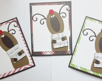 Singing Reindeer Card Kit