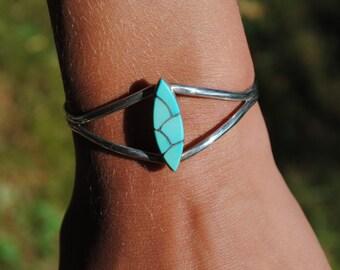 Turquoise cuff bracelet zuni