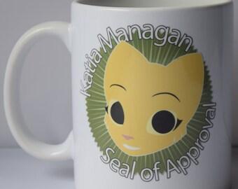 Prequel Katia Managan seal of approval mug