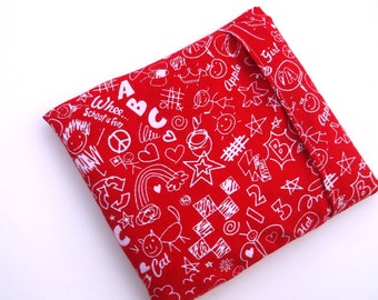 Microwave Heating Pad, Therapy Corn Bag, Heating Pad Cover, Microwavable Heat Pack, Corn Filled Heating Pad, Cold Pack, Red Corn Bag Sleeve