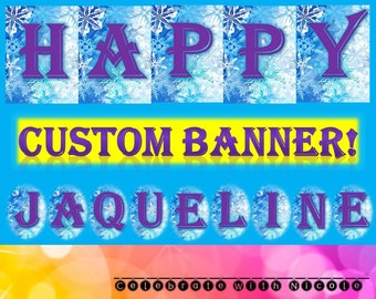 Personalized Frozen Banner