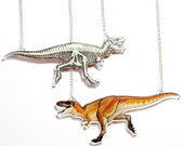 Double sided Tyrannosaurus Acrylic Necklace