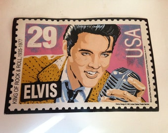 Vintage Elvis Presley Placemat The image of the 29 cent stamp