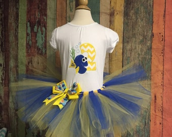 Dory Birthday outfit,  finding dory tutu outfit