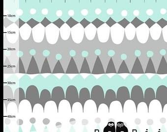 Jussi Organic Fabric - Aqua *Imported* (Ihana Tula Fabric) - Sold by the 1/2 Yard