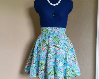 Flamingo Circle Skirt