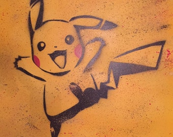 Pokemon Pikachu Canvas Acrylic Artwork Nintendo