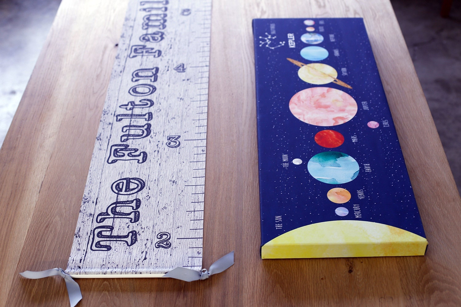 Canvas growth chart personalized image of wood growth chart jolieprints geenschuldenfo Images