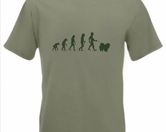 Evolution To Chow t-shirt Funny Chow Chow Dog T-shirt sizes Sm To 2XXL