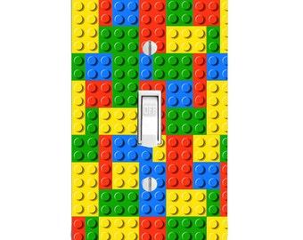 Lego Brick Block Printed Light Switch Cover, Kids Room, Bedroom Decor, Home  Decor