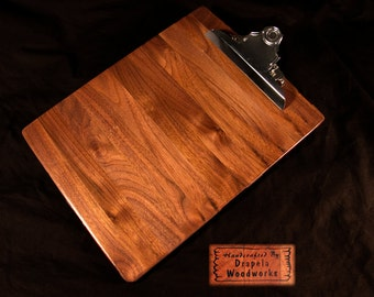 Walnut Clipboard, clipboard, clip board, clipboards, clip boards,