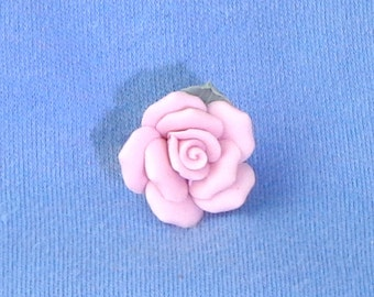 Vintage brooch, brooch bouquet materials, china pin, costume jewelry, light weight pink rose pin, brides accessory, china brooch