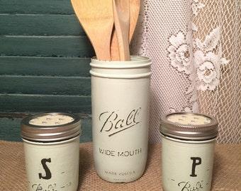 Mason Jar Salt & Pepper Shakers