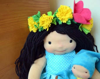 Dandelion-custom Waldorf doll, made to order, cloth doll, soft doll