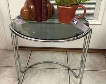Mersman Hexagonal End Side Table Cabinet Mid Century Modern