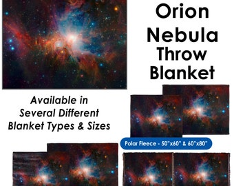 Infrared View of the Orion Nebula - Throw Blanket