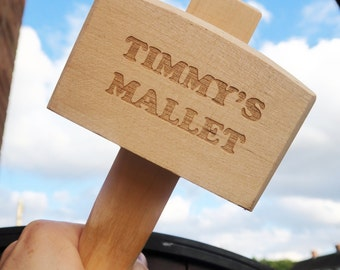 Personalised Wooden Mallet - Personalised Tools for Men