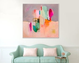 ABSTRACT PAINTING, large colorful abstract Giclee Print, large abstract art from original abstract painting, contemporary wall art