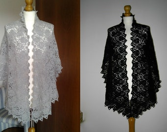 Handmade crochet stole  - 100% Merino Wool - Made to order