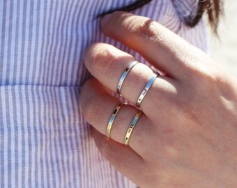 Double Band Open Ring