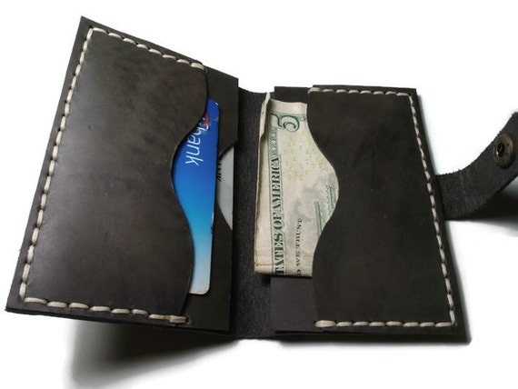 Leather business card holder personalized by locasinleather for Personalized business card holder for men
