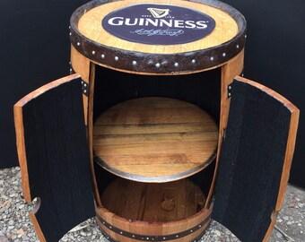 """Solid Oak Irish Guinness Barrel """"Alfie"""" Drinks Cabinet"""