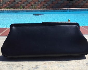 Long Black Clutch Purse