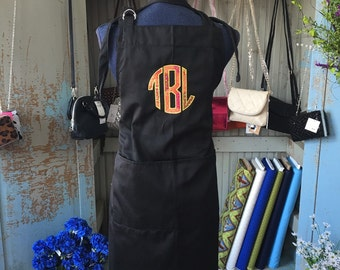Embroidered Appliqued Monogramed Apron