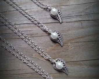 Leaf & Pearl Necklaces