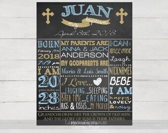 Baptism chalkboard, baptism sign, baptism boy, baptism boy gift, baptism decorations, Christening Chalkboard, christening boy, printable