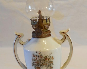 Vintage Miniature Holly Hobby Oil Lamp
