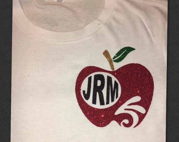 Teacher Monogram T-Shirt