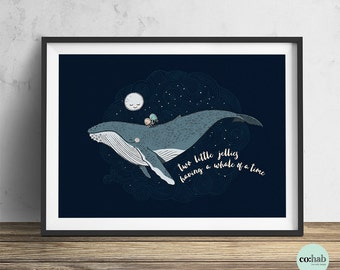 Whale Print - Little Jellies Series (Unframed)