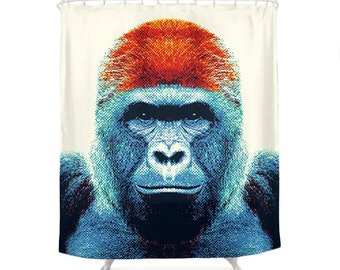 Gorilla Shower Curtain - Colorful Animals