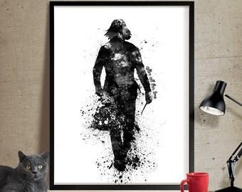 Alan Rickman Severus Snape Art, Snape Always Art , Snape Art poster, Harry Potter Art Poster, Snape watercolor, Always Snape Art Print (240)