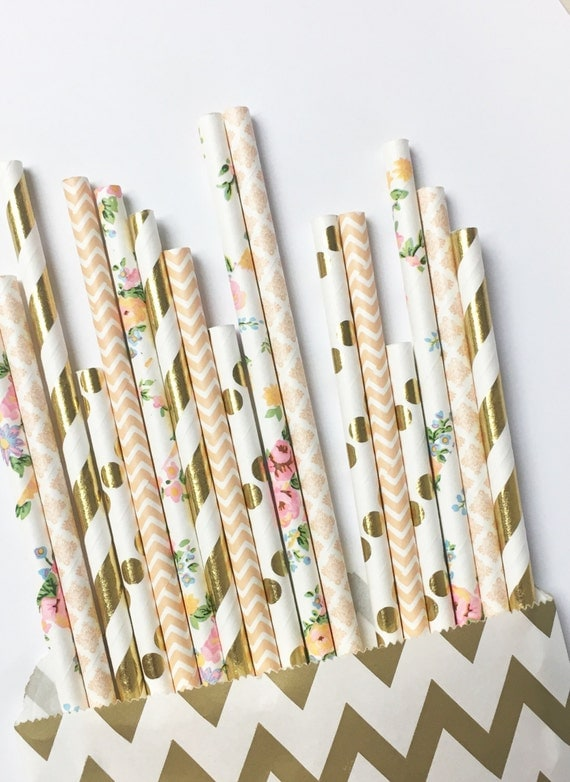 Boho Dream straw mix//paper straws, straws, party decorations, supplies, bachelorete party, birthday party, baby shower, wedding