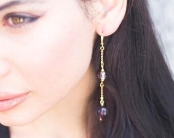 Violet Vintage Earrings