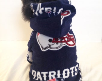 New England Patriots Dog Hoodie, Pet Sweater, Small Breeds
