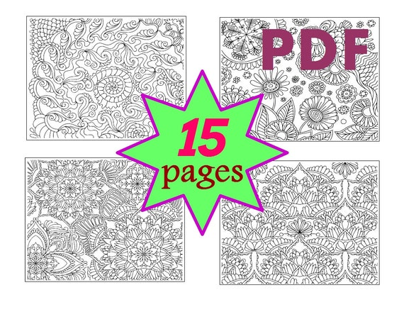 Pagine Da Colorare Per Adulti Libro Modello Astratto: Libro Di Coloritura Per 15 Pagine Adulti Zentangle Mandala