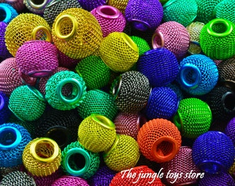Perles-mesh various colors of 1.5 cm (1/2 '') ideal for making your bird toys, parrots, parakeets etc.!