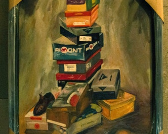 Oil with shoeboxes
