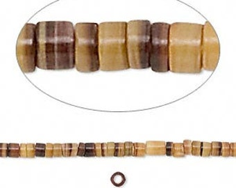 "Shell Bead, Natural Pen Shell, Handcut Heishi, 2 to 3mm, 26"" String, D863"