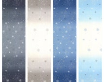 Snowflake Wonderland Collection Quarter Yard Ombre Fabric Bundle by Elite for Maywood Studio