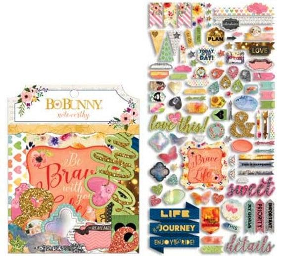 Bo Bunny Calendar Girl Ephemera  | Bible Journaling + Planners + Scrapbooking + Paper Crafts