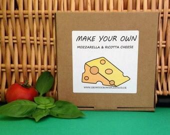 Make Your Own Homemade Mozzarella and Ricotta Cheese Kit - Mini Cheese Making Kit