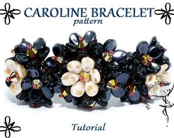 CAROLINE BRACELET pattern with PIP beads tutorial