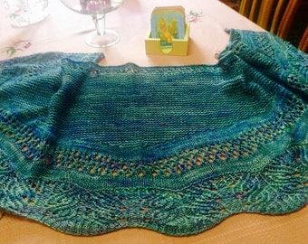 Lime Shawlette Knitting Pattern