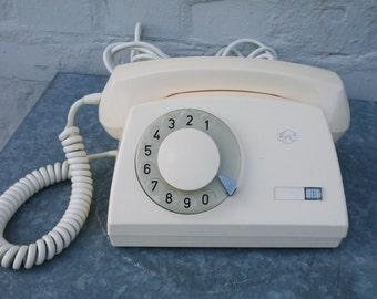 Vintage 60s rotary ivory phone