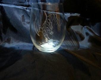 Flying dragon wine glass