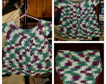 Crochet Summer Dress and Diaper Cover